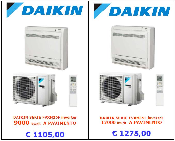 CLIMATIZZATORE DAIKIN FVXM25F FVXM35F inverter www.mt-termoidraulica a roma