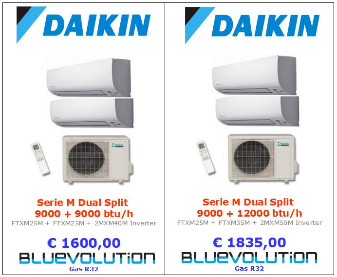 climatizzatore daikin dual serie m 9000+9000 e 9000+12000 www.mt-termoidraulica.it a roma