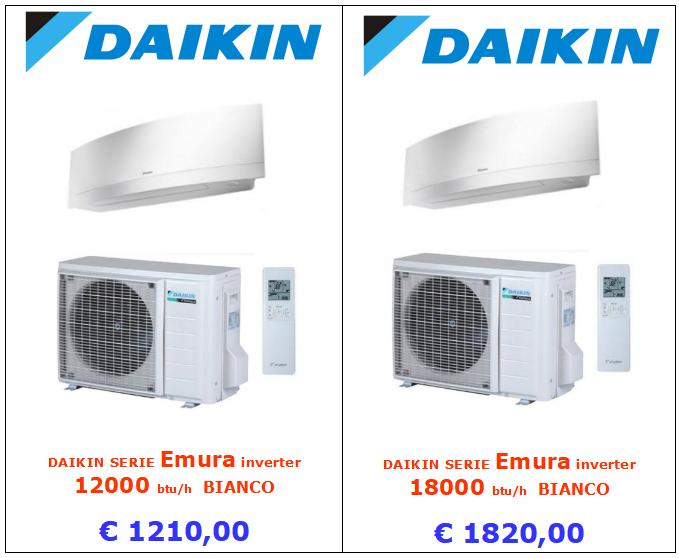climatizzatore daikin emura bianco 12000 btu e 18000 btu www.mt-termoidraulica.it a roma