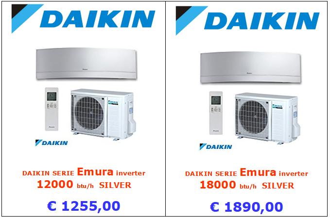 climatizzatore daikin emura silver 12000 btu e 18000 btu www.mt-termoidraulica.it a roma