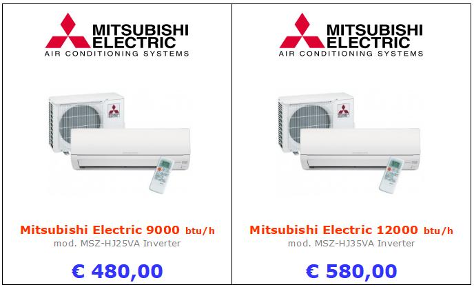climatizzatori MITSUBISHI ELECTRIC MSZ-HJ25VA a roma 9000 btu 12000 btu inverter www.mt-termoidraulica.it a roma