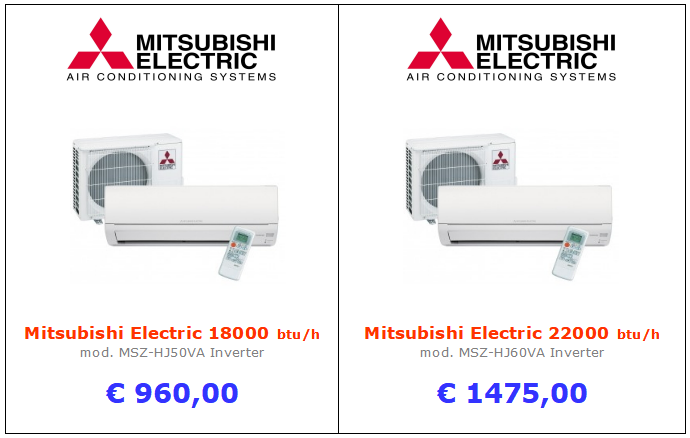 climatizzatori MITSUBISHI MSZ-HJVA a roma 18000 btu + 22000 btu inverter www.mt-termoidraulica.it a roma