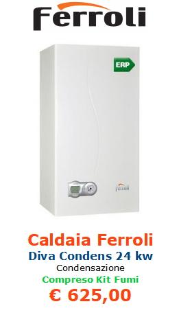 caldaia ferroli diva condens 24 kw www.mt-termoidraulica.it a roma