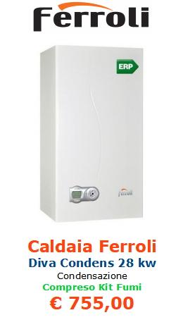 caldaia ferroli diva condens 28 kw www.mt-termoidraulica.it a roma