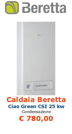 vendita caldaia beretta ciao green a condensazione 25 kw a roma