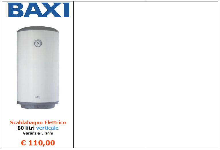 scaldabagno elettrico baxi a roma www.alesar.net www.mt-termoidraulica 2