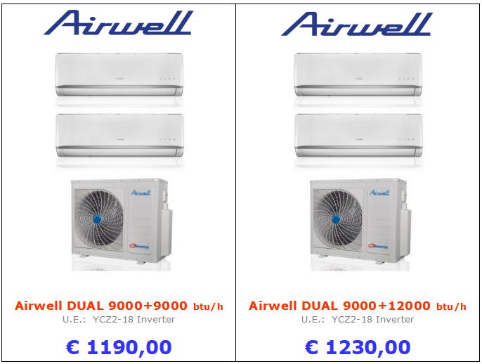 CLIMATIZZATOre Airwell DUAL 9000+9000 Airwell DUAL 9000+12000 www.mt-termoidraulica.it a roma