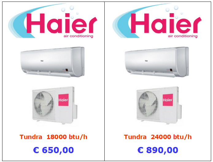 climatizzatore haier tundra 18000 btu 24000 btu www.mt-termoidraulica.it a roma