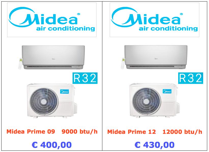 climatizzatore midea prime 9000 btu 12000 btu www.mt-termoidraulica.it a roma