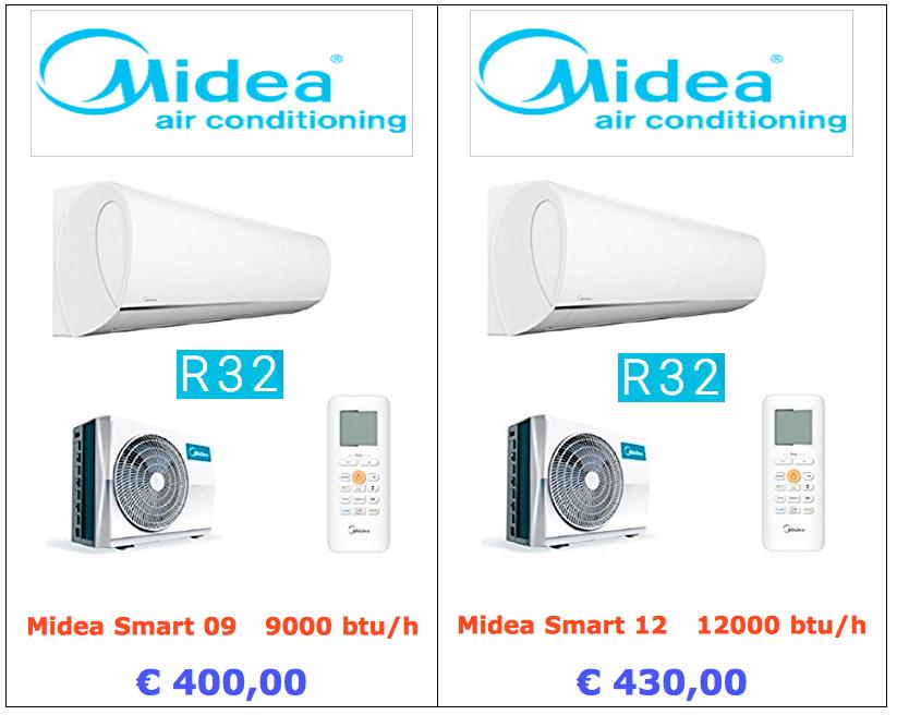 climatizzatore midea smart 9000 btu 12000 btu www.mt-termoidraulica.it a roma