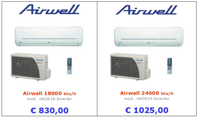 climatizzatori AIRWELL HKD a roma 18000 btu 24000 btu inverter www.mt-termoidraulica.it a roma