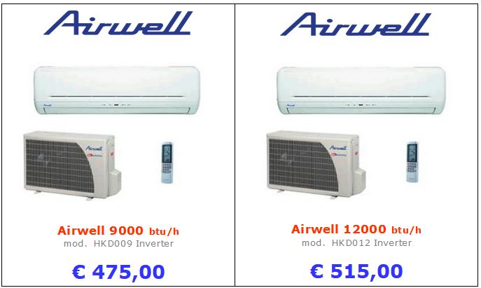 climatizzatori AIWELL HKD a roma 9000 btu 12000 btu inverter www.mt-termoidraulica.it a roma