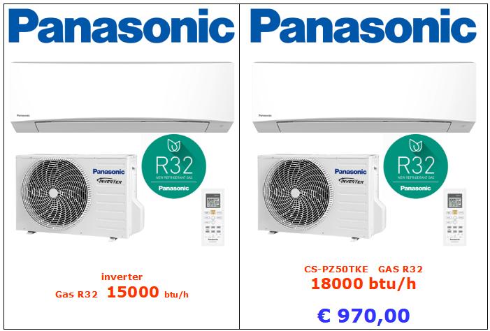 climatizzatori PANASONICCS-PZ50TKE a roma GAS R32 18000 btu inverter www.mt-termoidraulica.it a roma
