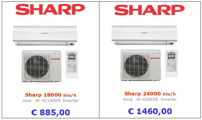 climatizzatori sharp a roma 18000 btu 24000 btu inverter www.mt-termoidraulica.it a roma