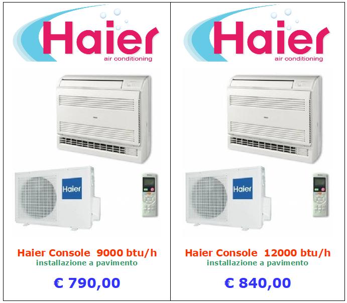 vendita condizionatore haier a roma modello console installazione a pavimento 9000 btu 12000 btu