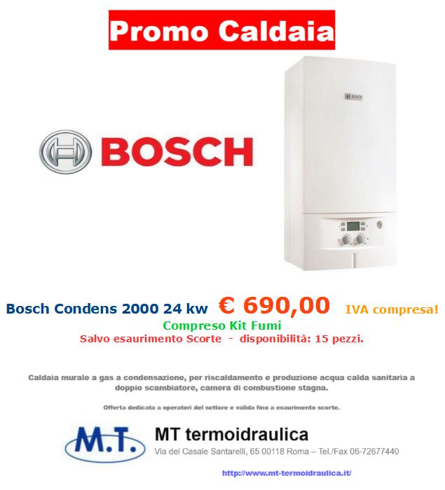 promozione caldaia Bosch Condens 24 kw a roma mt-termoidraulica
