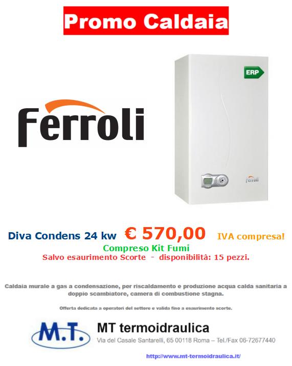 promozione caldaia ferroli diva condens 24 kw a roma mt-termoidraulica