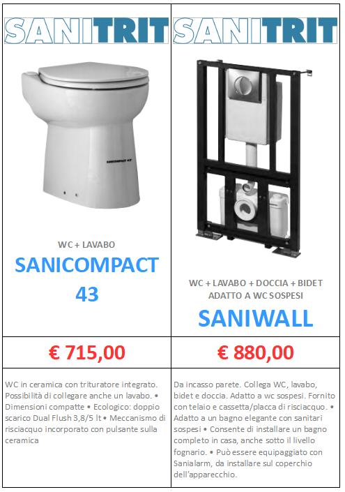 SANITRIT SANICOMPACT SANIWALL A ROMA MT-TERMOIDRAULICA