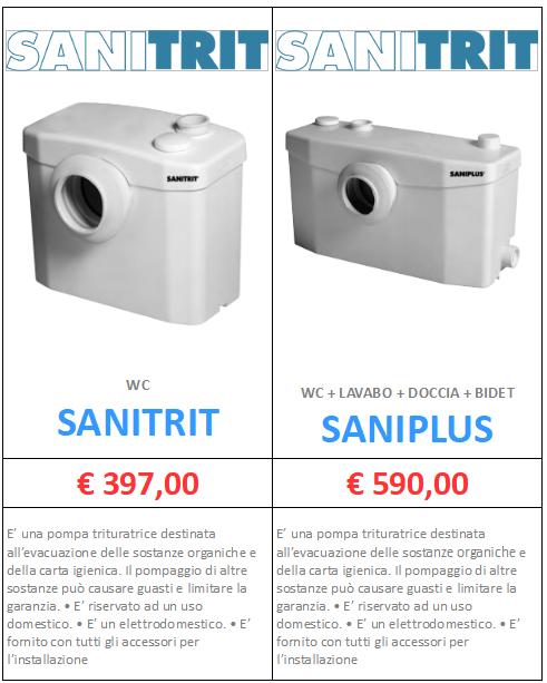 TRITURATORE SANITRIT SANIPLUS A ROMA MT-TERMOIDRAULICA