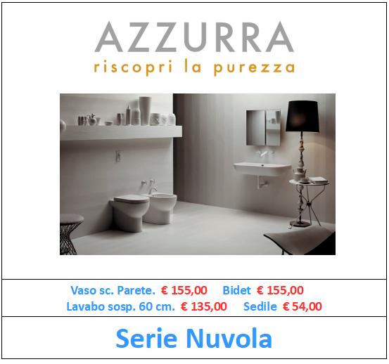 sanitari azzurra ceramica serie nuvola a roma