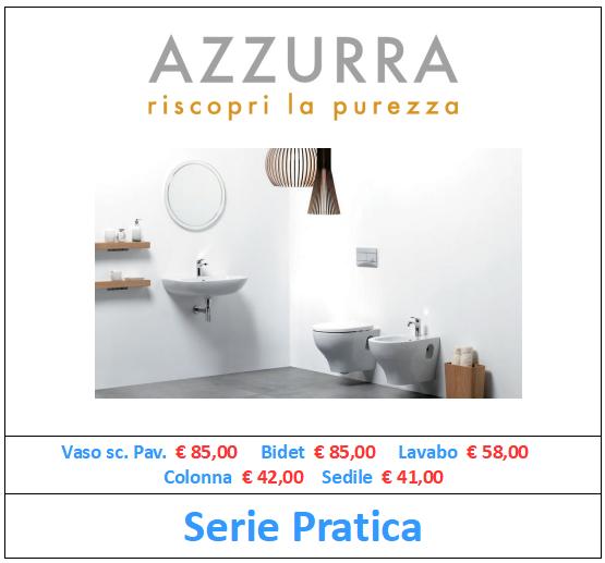 sanitari azzurra ceramica serie pratica a roma