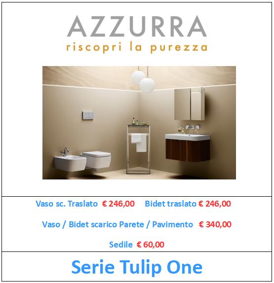 sanitari azzurra ceramica serie tulip one a roma