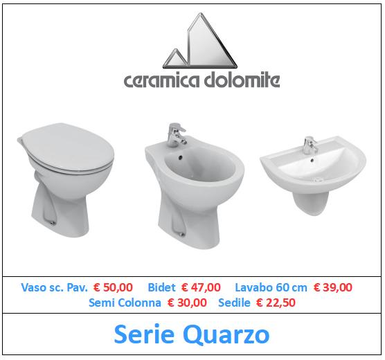 sanitari ceramica dolomite serie quarzo a roma