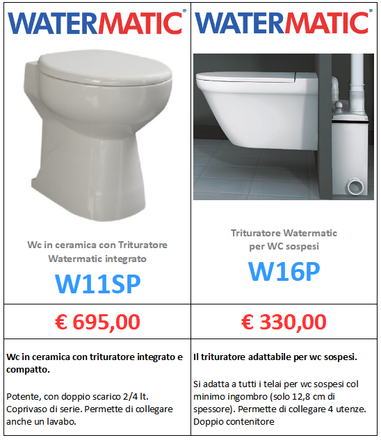 trituratore watermatic w11sp w16p a roma www.mt-termoidraulica