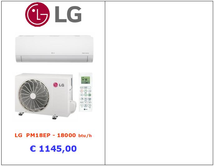 climatizzatore lg pm18ep a roma www.mt-termoidraulica.it zona tuscolana