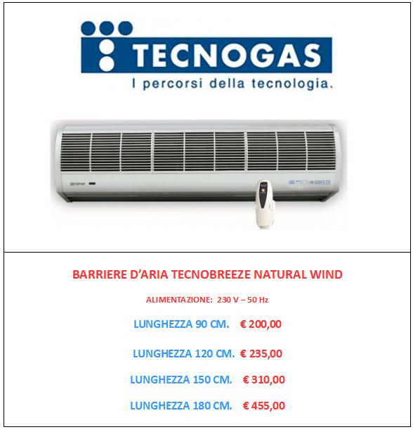 BARRIERA D ARIA TECNOGAS TECNOBREEZE www.mt-termoidraulica.it a roma