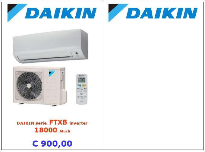 climatizzatore daikin serie ftxb 18000 btu www.mt-termoidraulica.it a roma