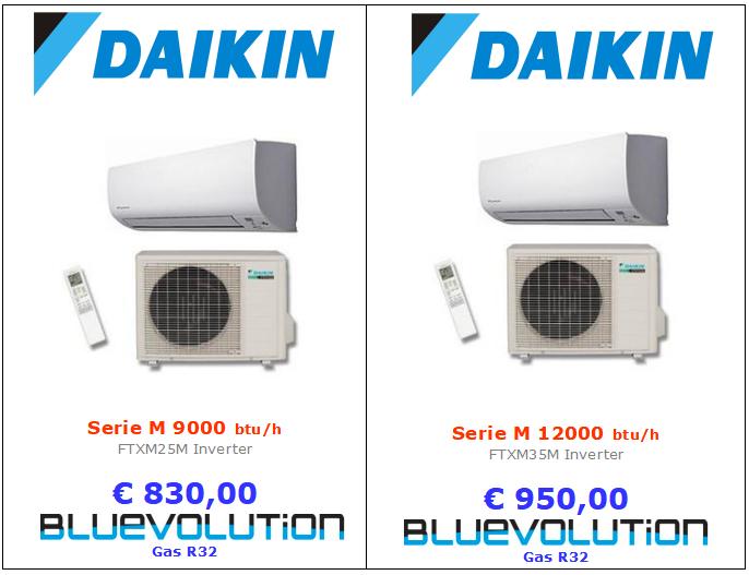 climatizzatore daikin serie ftxm 9000 btu e 12000 btu www.mt-termoidraulica.it a roma
