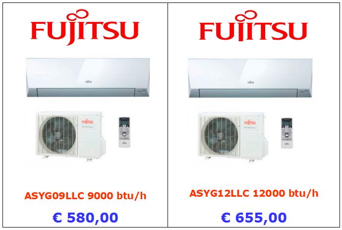 climatizzatori FUJITSU a roma 9000 btu 12000 btu inverter www.mt-termoidraulica.it a roma