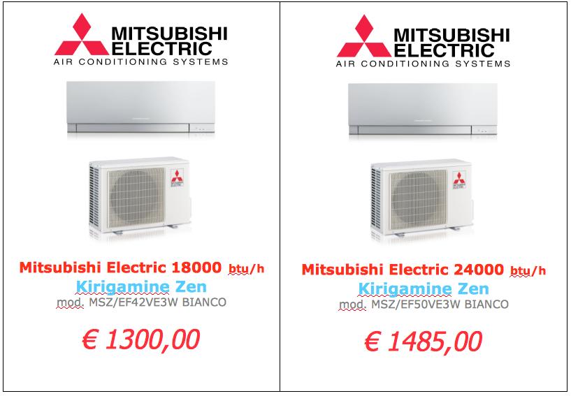 Mitsubishi Electric serie KIRIGAMINE BIANCO 18000 btu 24000 btu www.mt-termoidraulica.it a roma