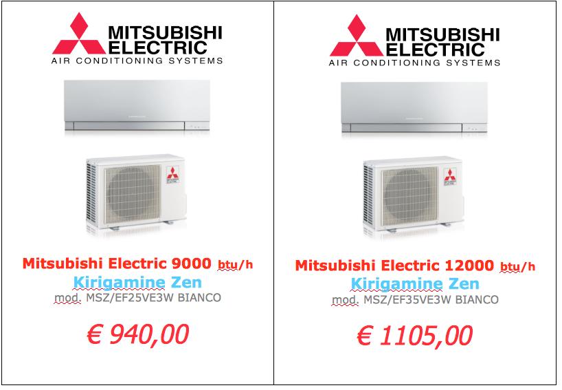 Mitsubishi Electric serie KIRIGAMINE BIANCO 9000 btu 12000 btu www.mt-termoidraulica.it a roma