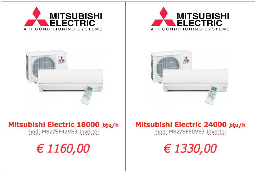 Mitsubishi Electric serie SF 18000 btu 24000 btu www.mt-termoidraulica.it a roma