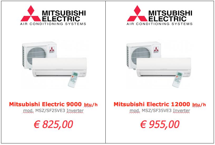 Mitsubishi Electric serie SF 9000 btu 12000 btu www.mt-termoidraulica.it a roma
