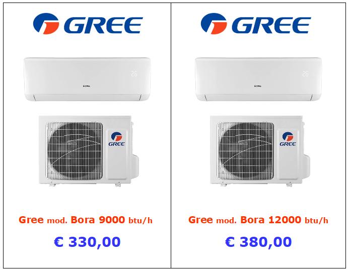 vendita condizionatore gree a roma 9000 btu 12000 btu
