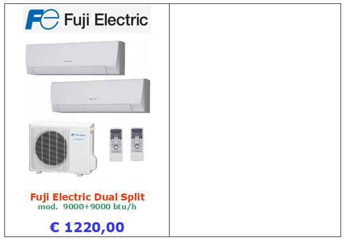 climatizzatore fuji electric a roma dual split 9000+9000 btu