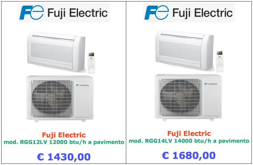 condizionatore a pavimento fuji electric 12000 btu 14000 btu a roma