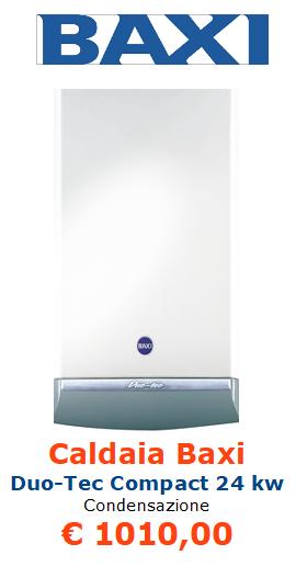 Caldaia BAXI Duo Tec Compact 24 kw a condensazione vendita a roma