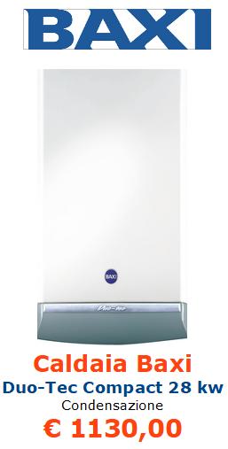 Caldaia BAXI Duo Tec Compact 28 kw a condensazione vendita a roma