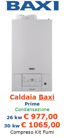 caldaia a condensazione baxi prime vendita a roma