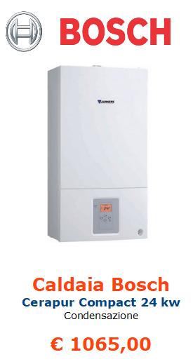 caldaia a condensazione bosch cerapur compact 24 kw vendita a roma