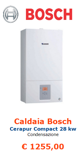 caldaia a condensazione bosch cerapur compact 28 kw vendita a roma