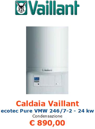 caldaia a condensazione vaillant ecotec pure vmw 246 7 2 vendita a roma