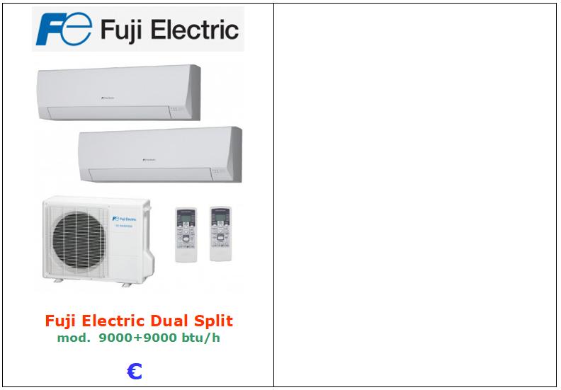 climatizzatore fuji dual split 9000 9000 vendita a roma