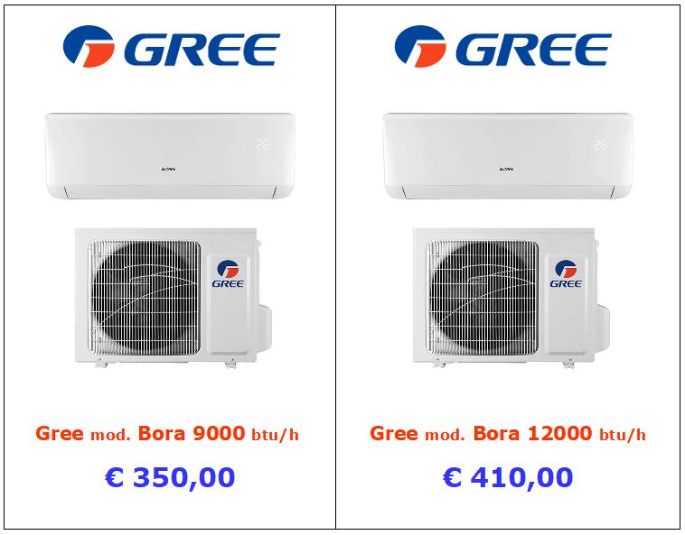 climatizzatore green bora 9000 btu 12000 btu vendita a roma