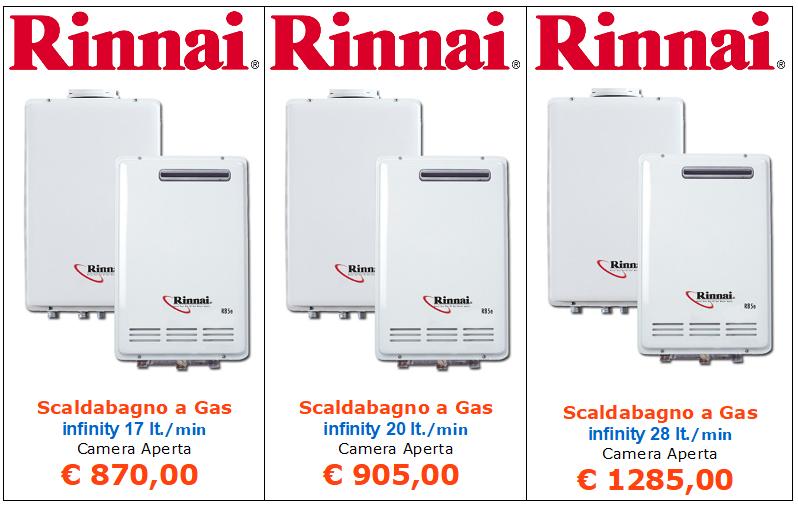 scaldabagno a gas rinnai infinity camera aperta vendita a roma