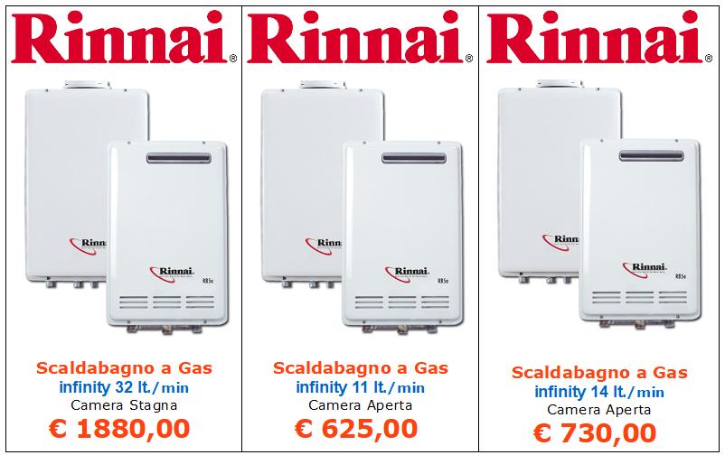 scaldabagno a gas rinnai infinity camera stagna vendita a roma